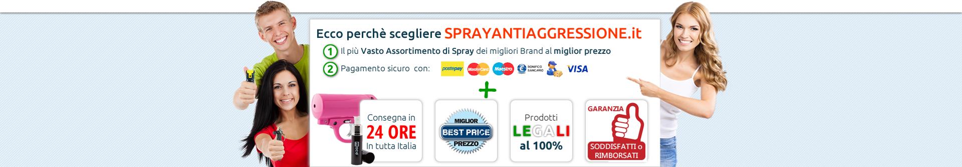 Lo Spray Antiaggressione al peperoncino. Cosa offriamo.