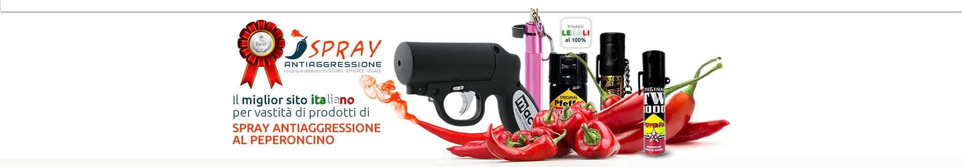 il miglior sito in Italia per vastità di prodotti di spray antiaggressione al peperoncino