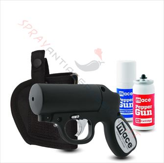 Immagine di Pistola Spray al peperoncino MACE Pepper Gun Nera con fondina