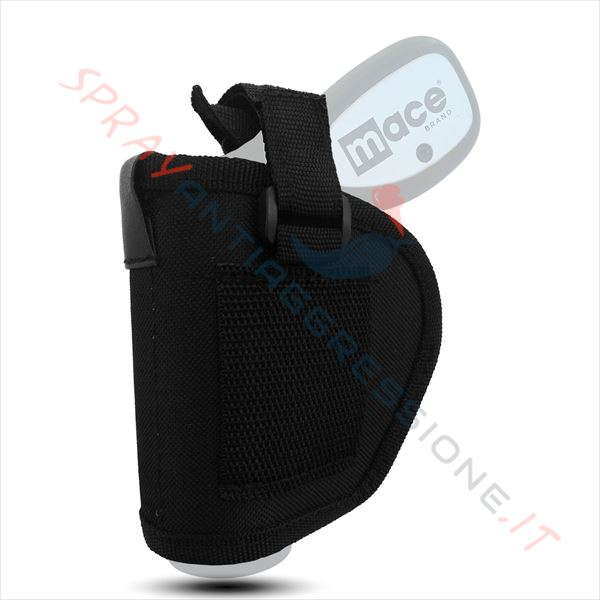 Immagine di Fondina nera porta pistola spray al peperoncino MACE Pepper gun