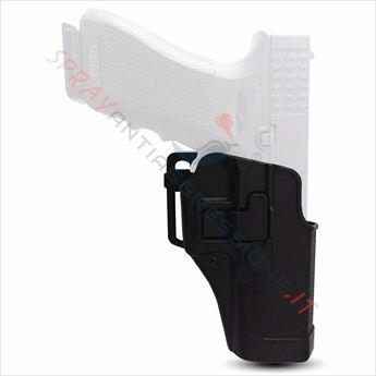 Immagine di Fondina destra nera JS-Tactical porta pistola spray al peperoncino GEISLER Pepper gun GD-105
