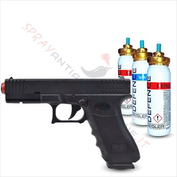 Immagine di Pistola Spray al peperoncino GEISLER DEFENCE Pepper Gun GD-105 Nera