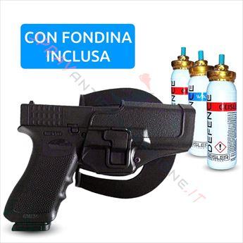 Immagine di Pistola Spray al peperoncino GEISLER DEFENCE Pepper Gun GD-105 Nera con fondina dx