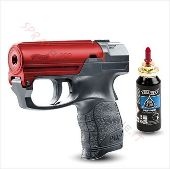 Immagine di Pistola spray al peperoncino UMAREX Pepper Gun PDP Walther nera bascula rossa
