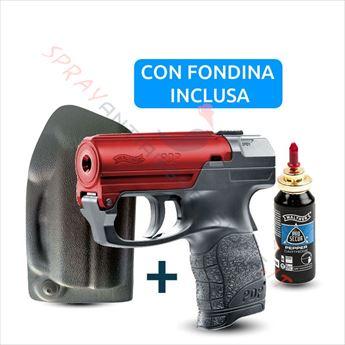 Immagine di Pistola spray al peperoncino UMAREX Pepper Gun PDP Walther nera bascula rossa con fondina dx